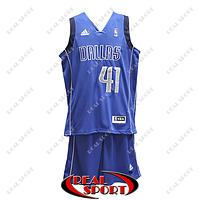 Баскетбольная форма НБА Даллас Маверикс, Дирк Новицки №41, синяя, фото 1