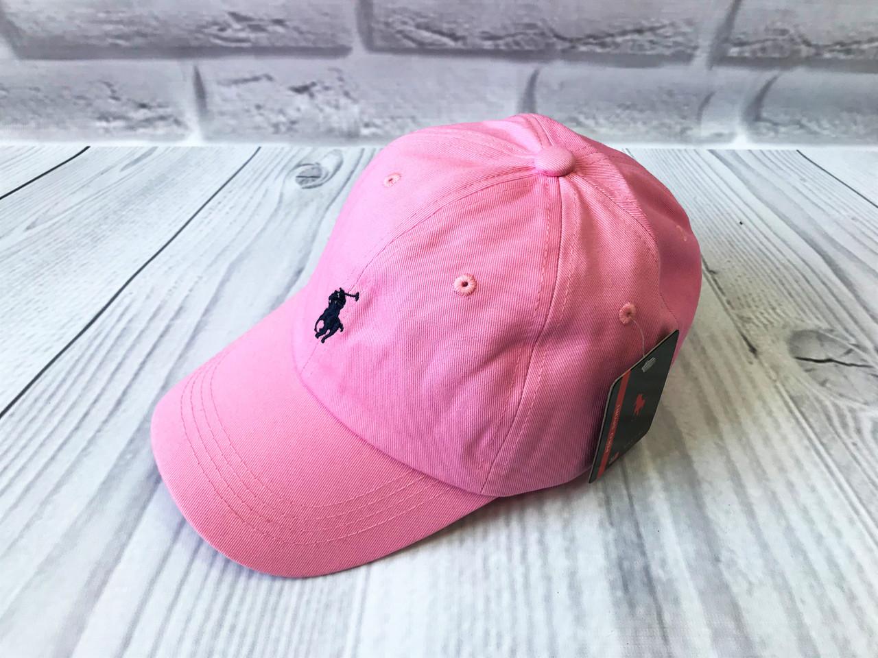 Кепка в стиле Polo бледно-розовая