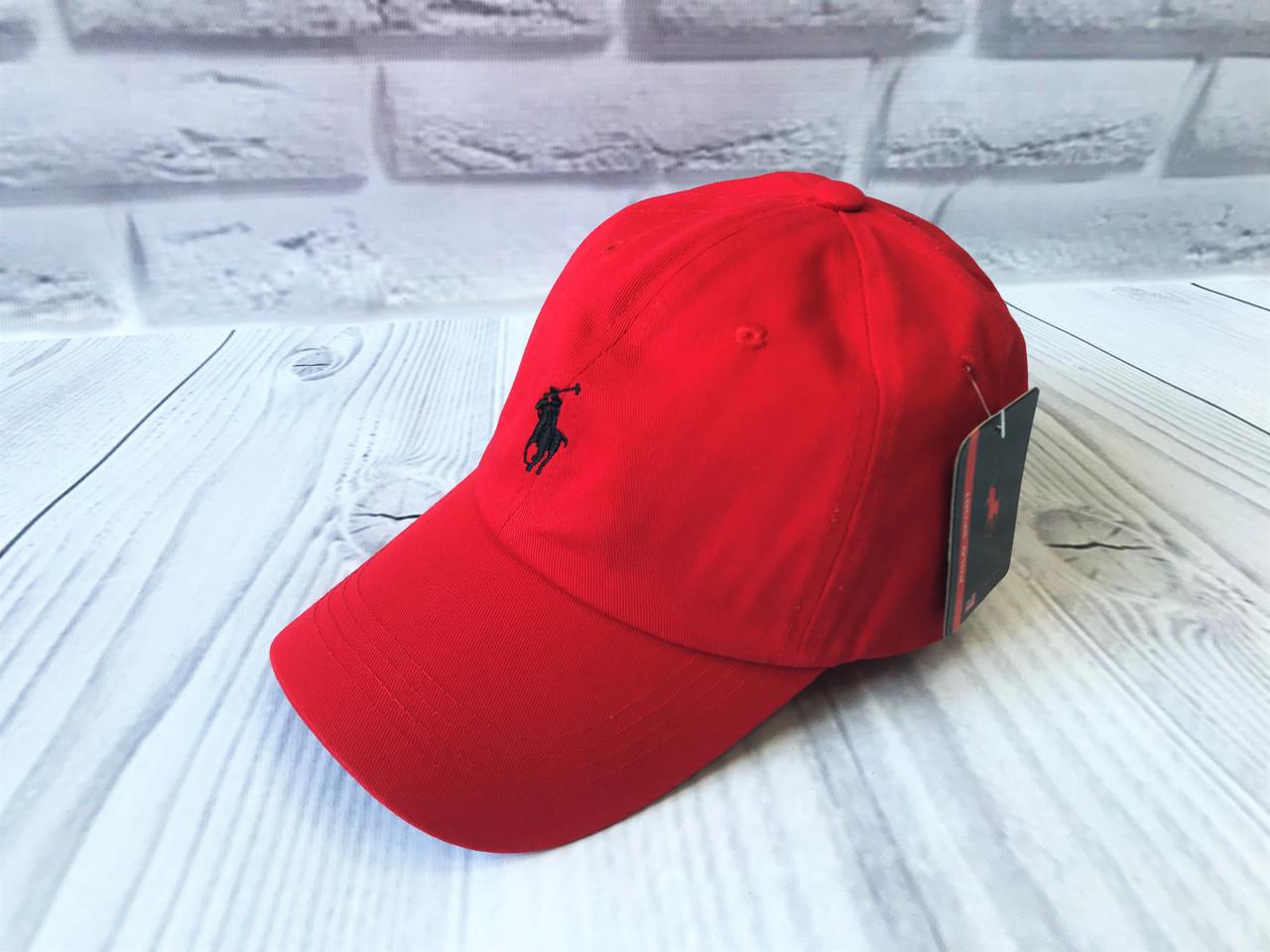 Кепка в стиле Polo красная