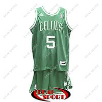 Баскетбольная форма НБА Бостон Селтикс, Кевин Гарнетт №5, зеленая, фото 1