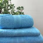 Махровое полотенце 70Х140 Голубое 500