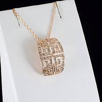 Непревзойденный кулон с кристаллами Swarovski + цепочка, покрытые золотом 0816