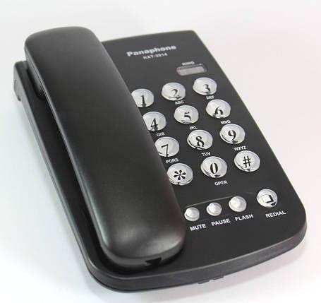 Кнопочный стационарный телефон Panaphone KXT-3014 ( домашний телефон ), фото 2