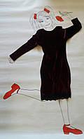 Платье из бархата для девочки и мама и дочка Сукня для дівчинки оксамит