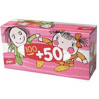Салфетки бумажные, двухслойные, отрывные bella happy, 100 + 50 шт.