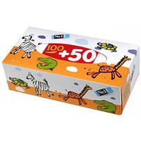 Салфетки бумажные, двухслойные, отрывные bella №1, 100 + 50 шт.