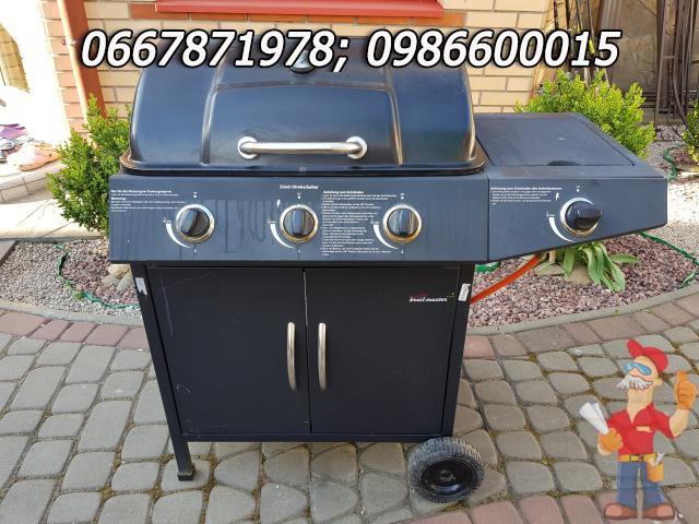 Газовый гриль - барбекю с газовой плитой б/у из Германии