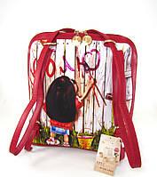 Рюкзак прямоугольный SM045-12 граффити-девочка