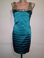 Платье Celo камни атлас бирюза, фото 1