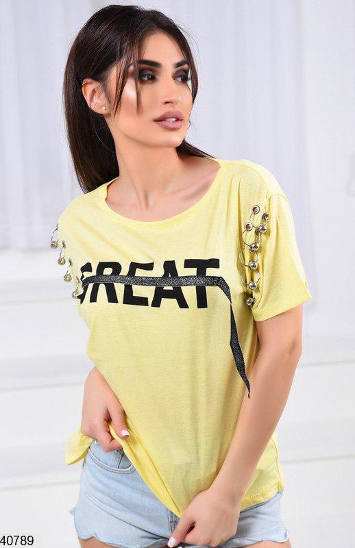 18df8c66 Женская турецкая футболка 40788 КТ-2682 - «Riccardo» - мультибрендовый  интернет-магазин