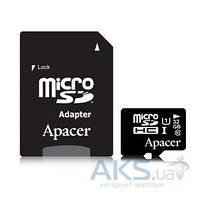 Карта памяти Apacer 32GB microSDHC Class10 UHS-I + SD Adapter (AP32GMCSH10U1-R)