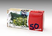 Салфетки бумажные, двухслойные, отрывные bella №1, с ароматом Мяты, 100 + 50 шт.