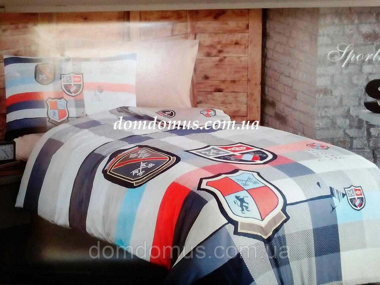 """Постельное белье """"Sportive"""" First choice ranforce полуторный Евро R-68"""