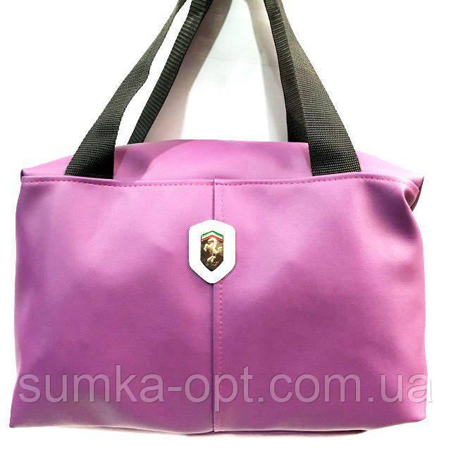 Универсальные сумки КОЖВИНИЛ Ferrari (фиолетовый)35*26