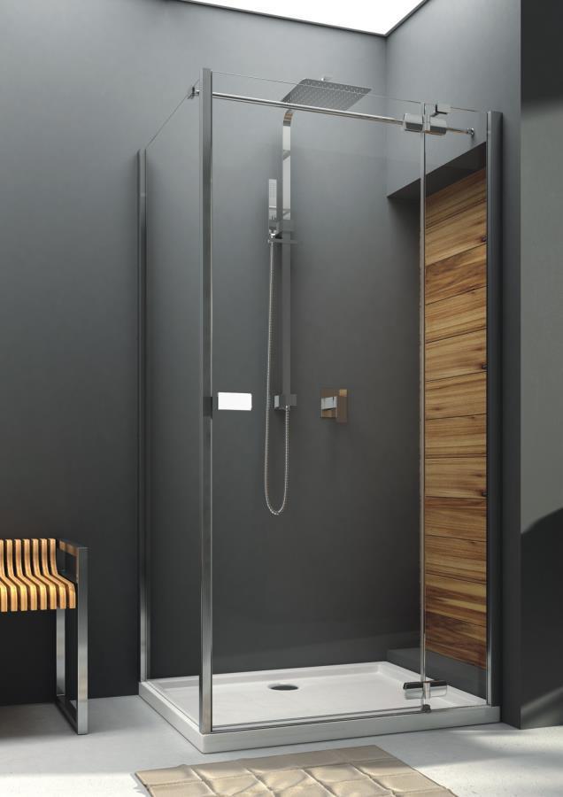 Aquaform VERRA LINE: Распашные двери для монтажа со стенкой