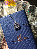 Подвеска движущийся камень сердце, 925 пробы, фирменная упаковка