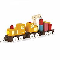 Игрушка-каталка Поезд на магнитах Janod, J08089