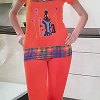 Домашний костюм лосины и футболка