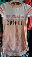 Красивая футболка для девочек от 140 до 176 см рост.