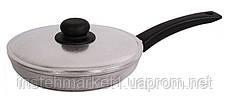 Сковорода БИОЛ 2204БК (диаметр 220 мм) алюминиевая с утолщённым дном, бакелитовая ручка и крышка, фото 3