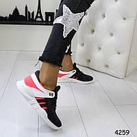 Кроссовки черные+розовый, удобные, легкие, женская спортивная обувь, фото 1