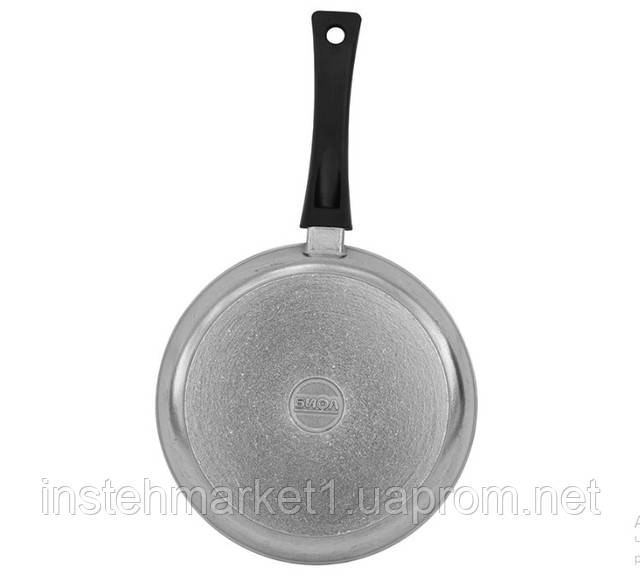 Сковорода БИОЛ Блеск 1804БК (диаметр 180 мм) алюминиевая с утолщённым дном, бакелитовая ручка и крышкав интернет-магазине