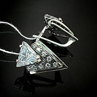 Серебряные женские серьги Оракул