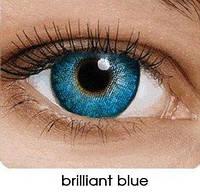 Цветные контактные линзы Fusion на 3 месяца, кольорові контактні лінзи, (2шт), OkVision Brilliant Blue
