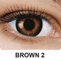 Цветные контактные линзы Fusion на 3 месяца, кольорові контактні лінзи, (2шт), OkVision Brown 2
