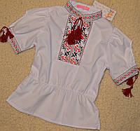 Вышиванка, блузка детская из хлопка.рост 122-146