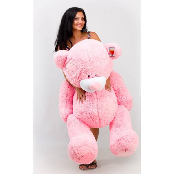 Плюшевый медведь Гриша 140 см Розовый