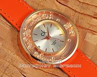 Женские наручные часы Calvin Klein Quartz Lady 9440 Orange реплика кварцевые отличное качество модный стиль