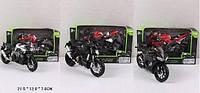 Мотоцикл металлический игрушечный