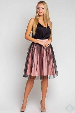 b1f640dba39 Легкая женская юбка с фатином Джессика персик  360 грн. Купить в ...