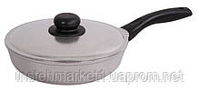 Сковорода БИОЛ 2007БК (диаметр 200 мм) алюминиевая с утолщённым дном, бакелитовая ручка и крышка, фото 2
