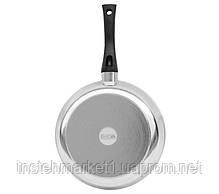 Сковорода БИОЛ 2609БК (діаметр 260 мм) алюмінієва з потовщеним дном, бакелітова ручка і кришка, фото 3