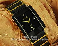 Наручные часы Rado Integral Jubile Gold Black сапфировое стекло реплика ААА мужские женские унисекс