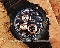 Мужские наручные часы Casio Edifice EFX-500BK-1AV хронограф японское качество касио