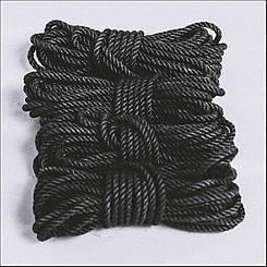 Веревка для шибари черная 6мм/8м, джут