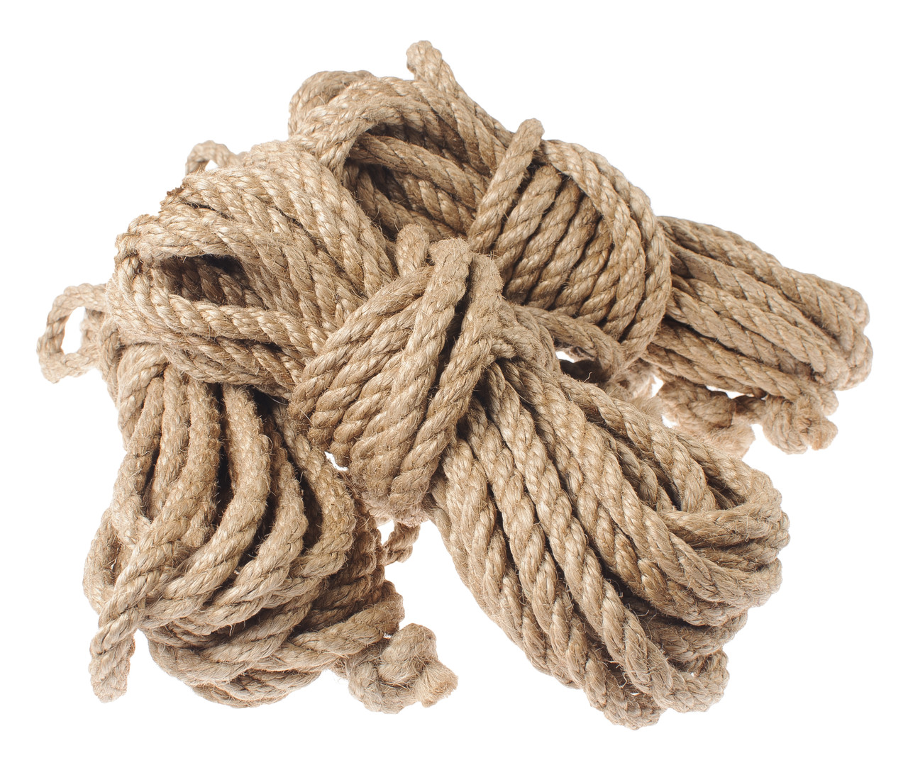 Верёвка для шибари натуральная, джут, 8мм/8м