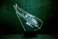 """Детский ночник -светильник """"Вертолет 2 """" 3DTOYSLAMP"""