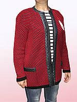 Женский кардиган-пиджак на замке (2904/21)