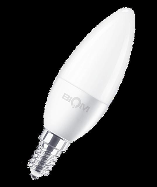 Светодиодная лампа С37 7W E14 3000K мягкий свет ВТ-569