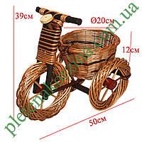 Цветочник велосипед (средний, 2размер) №366.2