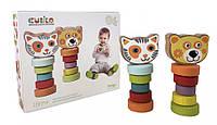 Набор деревянных игрушек Гибкие животные Cubika, игрушки из дерева