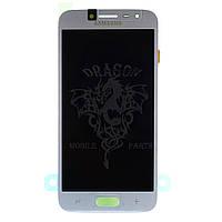 Дисплей Samsung J250 Galaxy J2 2018 с сенсором Серебряный Silver оригинал , GH97-21339B