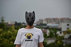 Маска Черная пантера для взрослых, латексная. Косплей Мстители, фото 3