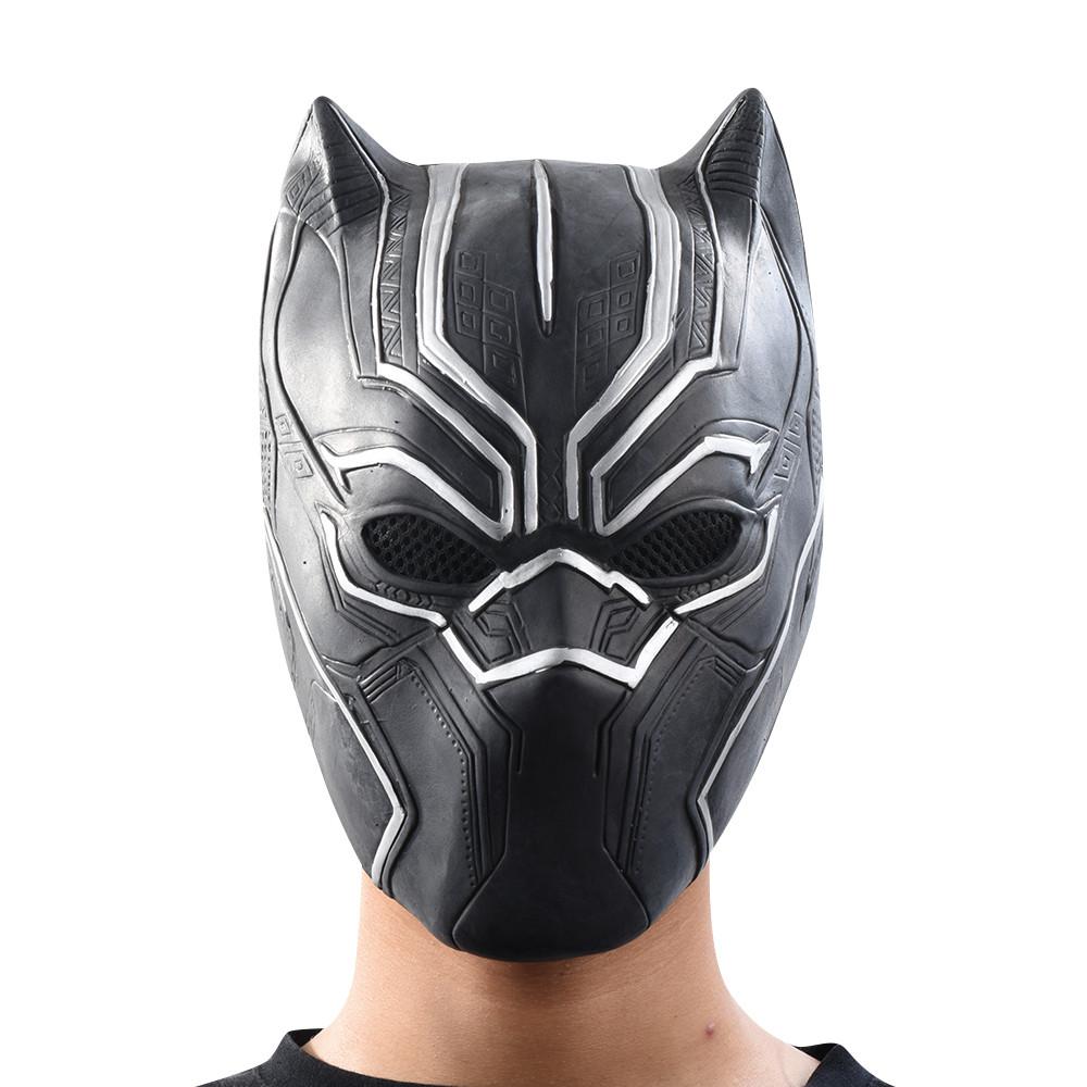Маска Черная пантера для взрослых, латексная. Косплей Мстители