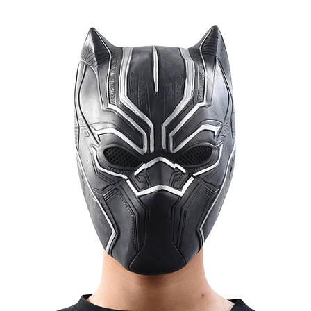 Маска Черная пантера для взрослых, латексная. Косплей Мстители, фото 2