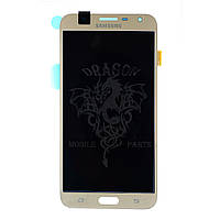 Дисплей Samsung J701 Galaxy J7 2017 с сенсором Золотой Gold оригинал , GH97-20904B